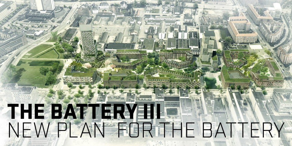 TREDJE NATUR's plan revives the Battery Area with green and blue elements as the central values in the neighborhood