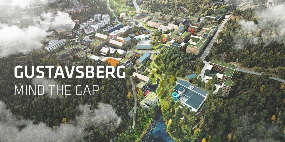 TREDJE NATUR tegner ny holistisk vision for et tæt bæredygtigt Gustavsberg i Sverige