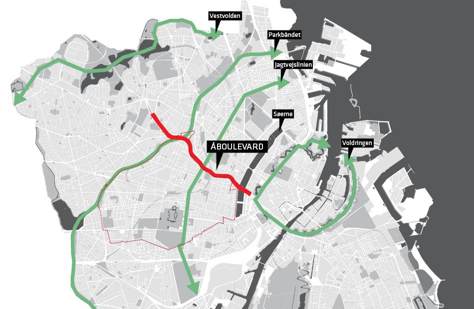 Kort over grønne forbindelser